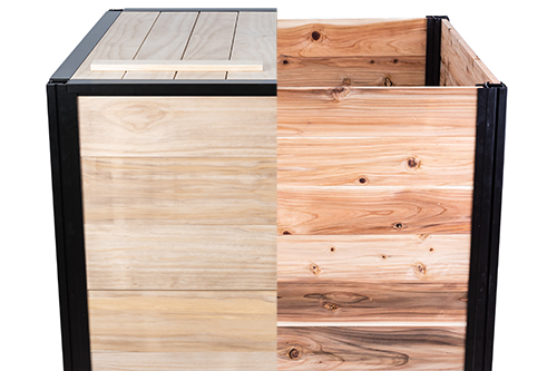 Different options for wood available with CarbonCylce Composters compost bins