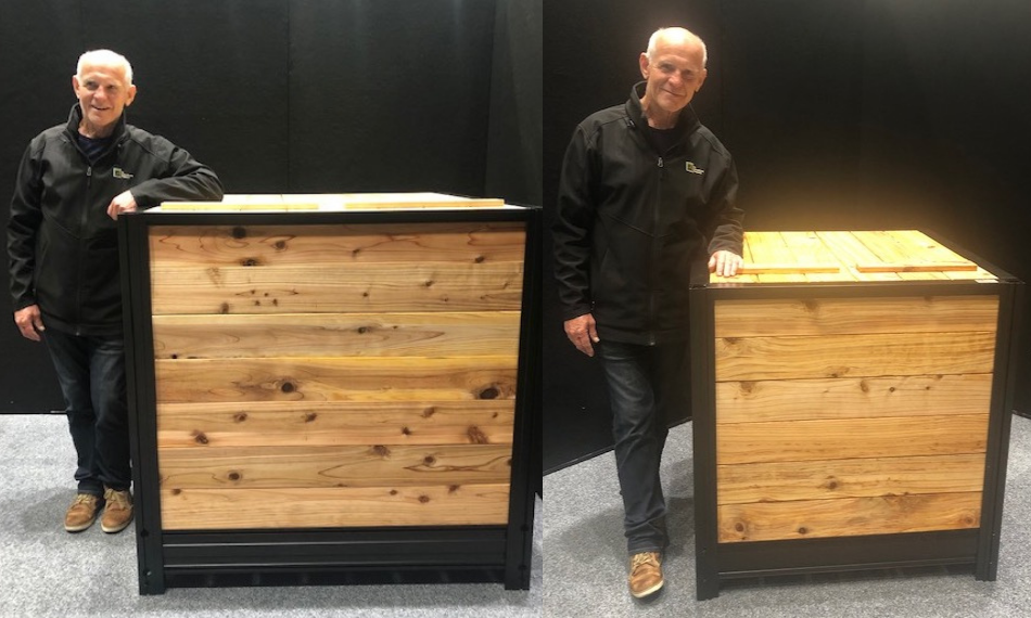 Comparing small and larger compost box sizes